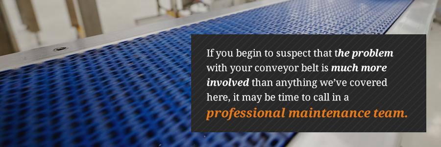 conveyor belt maintenance services