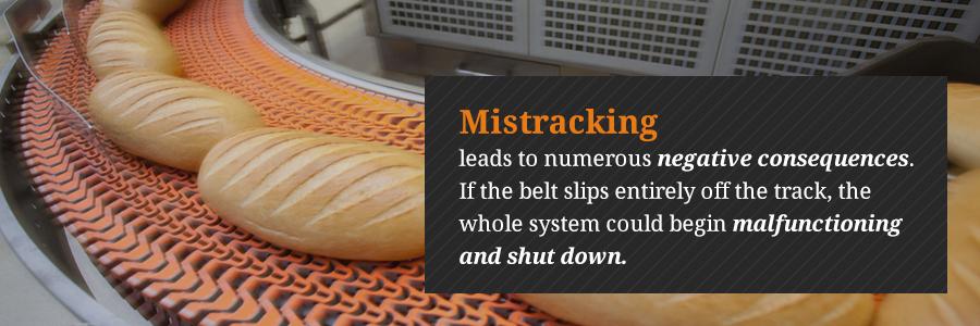 conveyor belt mistracking problems