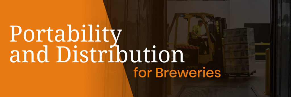portability for cans and bottles for breweries