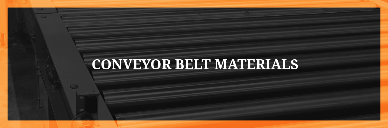 conveyor belt materials banner graphic