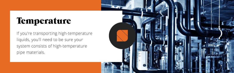 high-temperature pipe materials