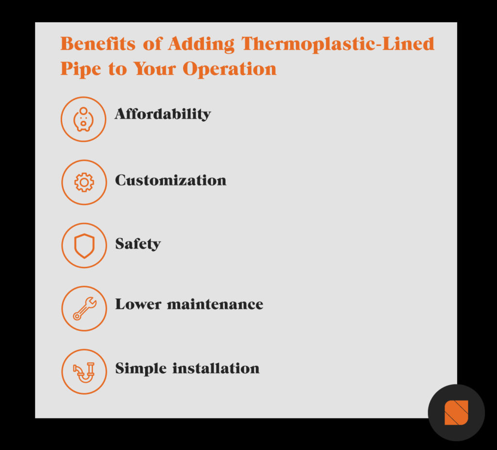 benefits of thermoplastic-lined pipe