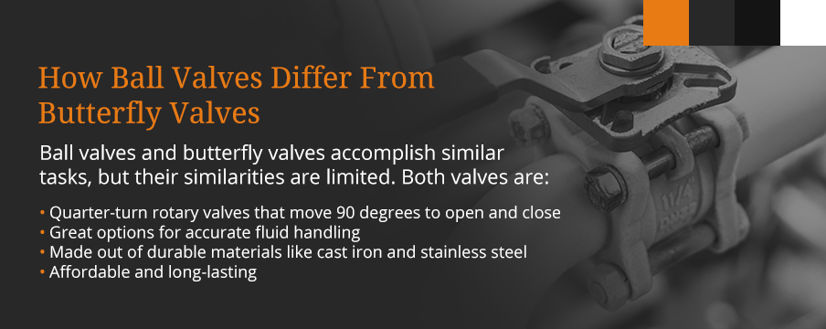 how ball and butterfly valves differ graphic