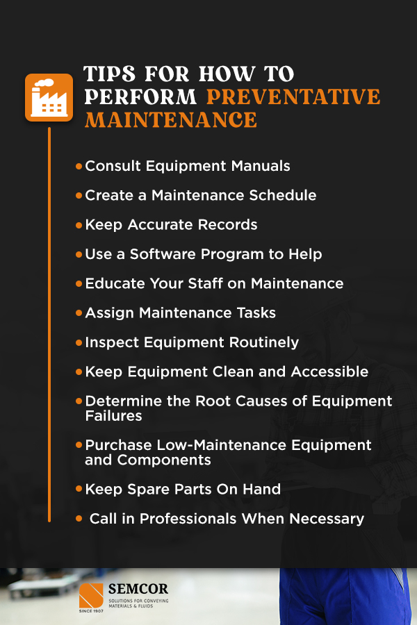 Tips for How to Perform Preventative Maintenance